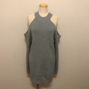 Tobi sweater knit dress - gray
